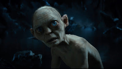 The character Gollum, performed by Andy Serkis, in The Hobbit: An Unexpected Journey, directed by Peter Jackson