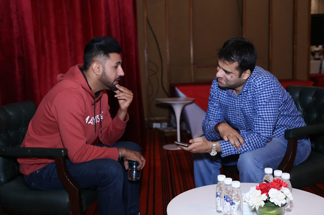 Interviewing actor-singer Gippy Grewal