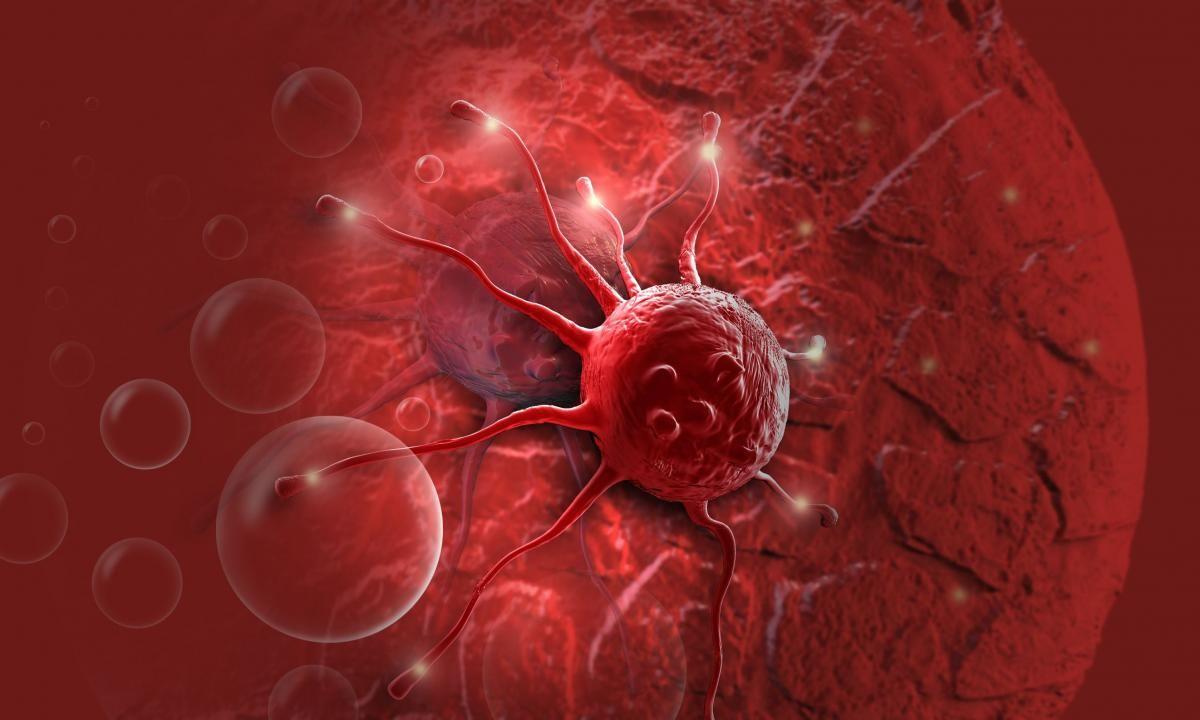 Ilustração da célula cancerígena
