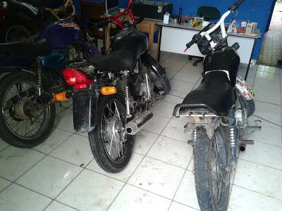 Apreensão de três motocicletas adulteradas em Anapurus por policiais militares do 16º BPM
