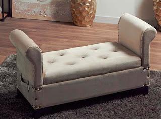 banco descalzadora dormitorio vintage