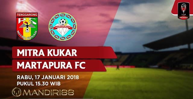 Prediksi Bola Mitra Kukar Vs Martapura FC , Rabu 17 January 2018 Pukul 15.30 WIB @ Indosiar