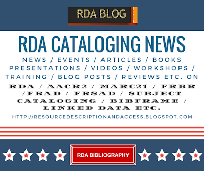 RDA CATALOGING NEWS