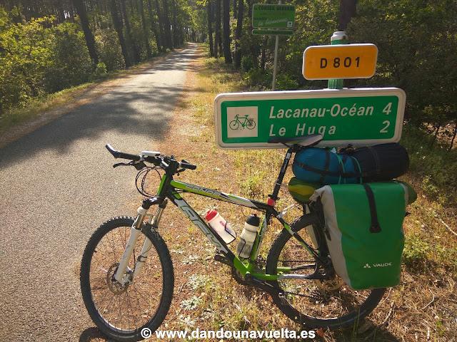 Vía ciclista en La Velodyssee, Francia