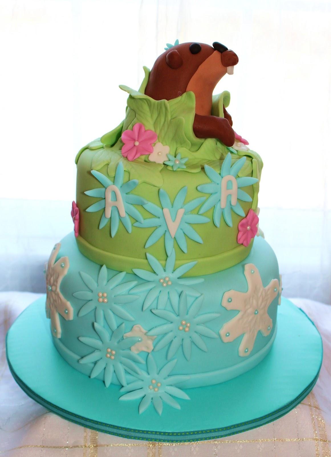 Creative Cakes By Lynn: Groundhog Day Birthday Cake