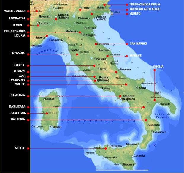 Cartina Geografica Italia Con Tutte Le Province.Mappa Cartina Italia Geografica Regionale Della Citta Mappa Cartina Provincia Italia