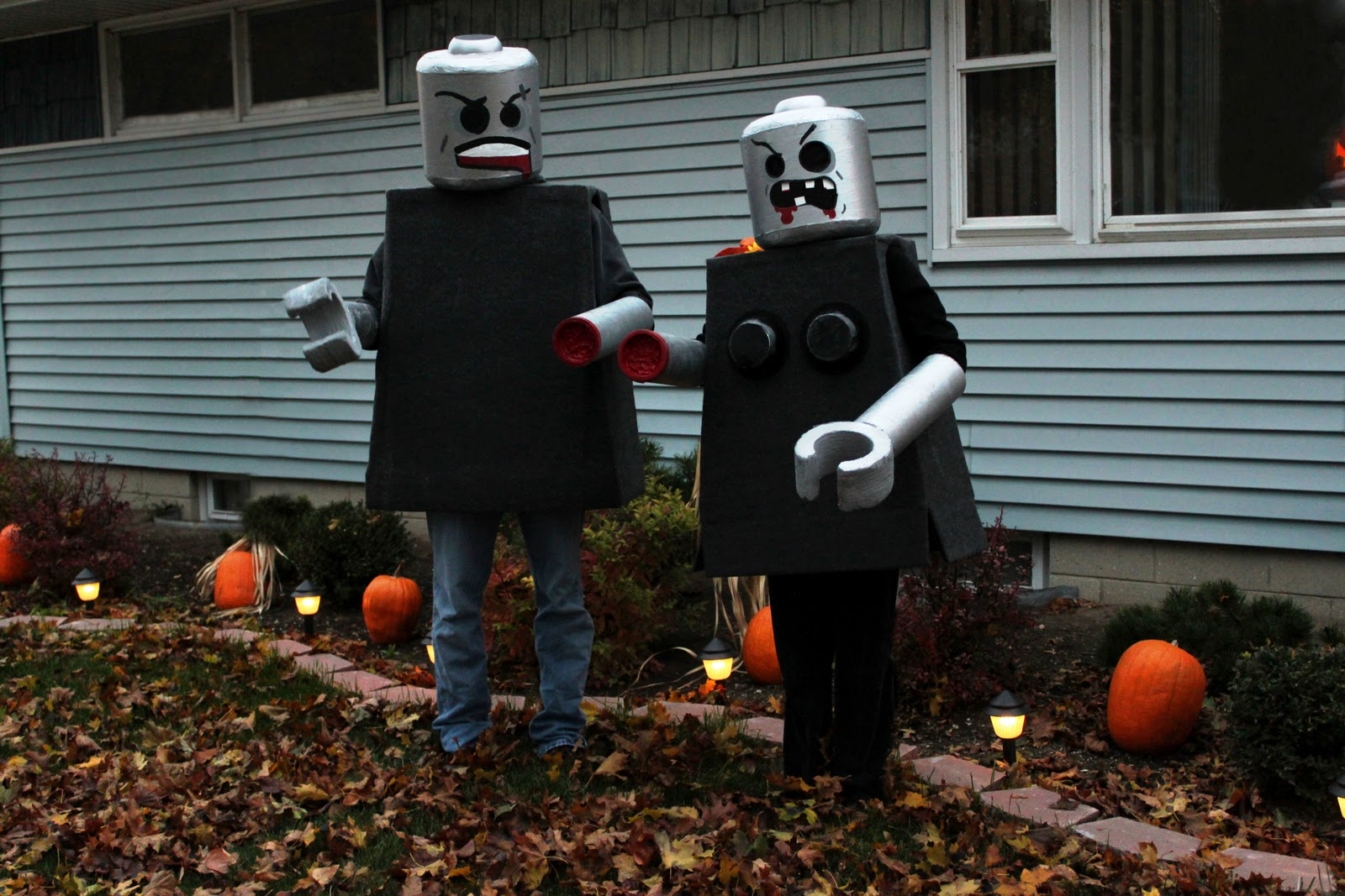 Lego Man Halloween Costume.Black And White Obsession Lego Man Costume