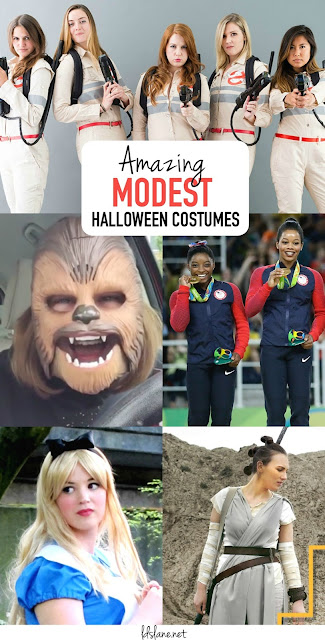 You don't have to show it all to have an amazing Halloween Costume - these DIY Costumes are modest and great for 2016!