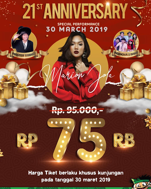 #WaterBoomLippoCikarang - #Promo Annivesary 21 Th & Diskon Tiket 21% (30 Maret 2019)
