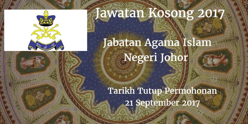 Jawatan Kosong JAINJ 21 September 2017