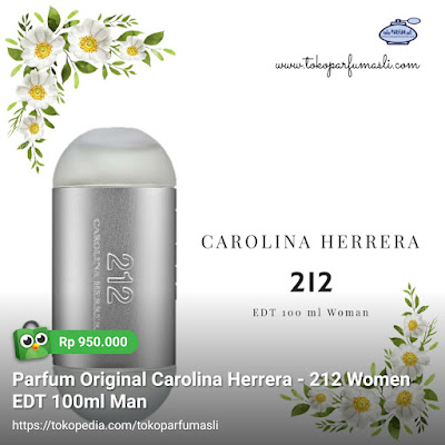 toko parfum asli parfum online original carolina herrera 212 edt 100ml woman