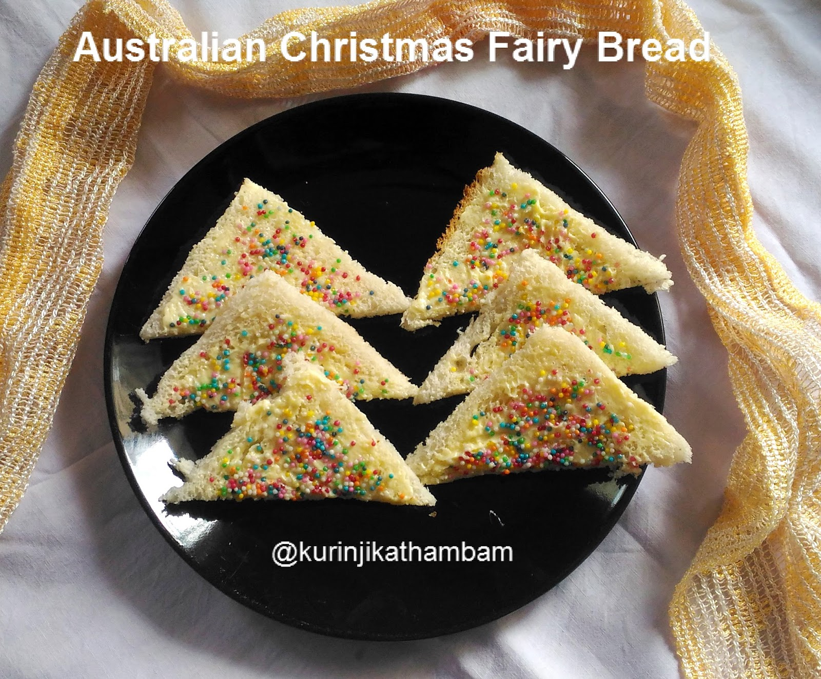 Australian christmas fairy bread bread recipes kurinji kathambam 1 you can use any bread varieties forumfinder Image collections
