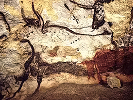 Cave Painting of Aurochs, Lascaux, France, prehistoric art
