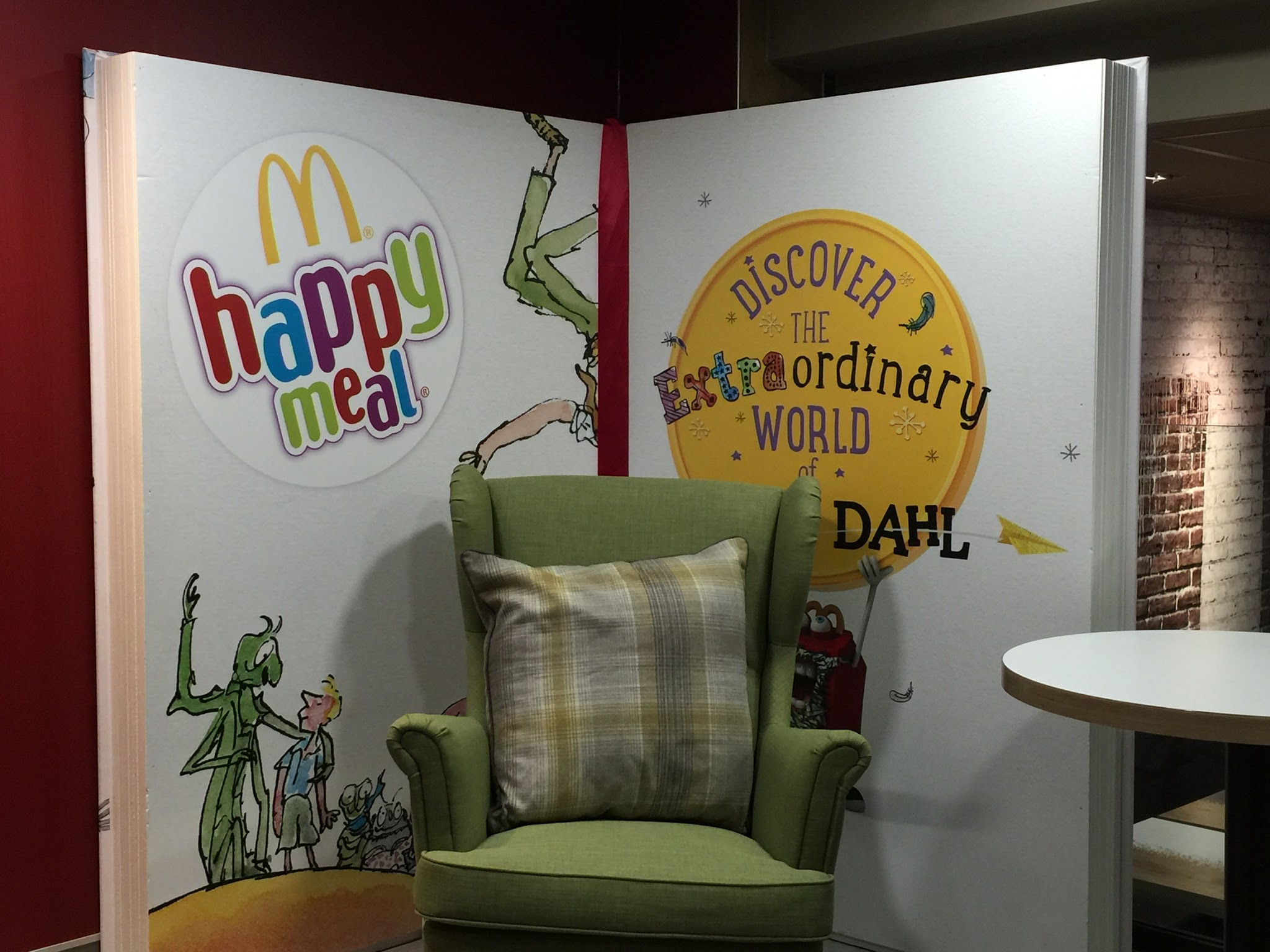 arm chair in McDonalds