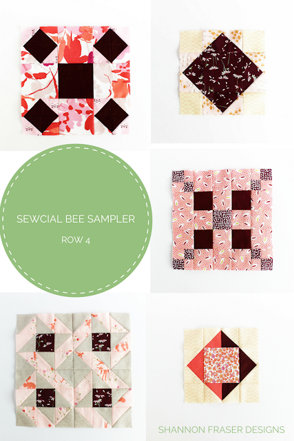 Sewcial Bee Sampler Row 4 Roundup | Shannon Fraser Designs | Modern Quilting | Sew-A-Long | Sewcial Bee Sampler with Sharon Holland Designs & Maureen Cracknell