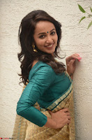 Tejaswi Madivada looks super cute in Saree at V care fund raising event COLORS ~  Exclusive 048.JPG