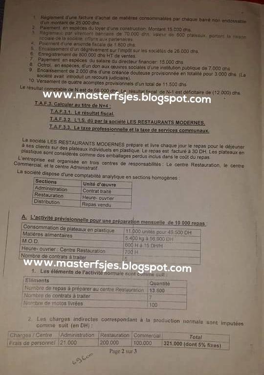 Master Finance/Comptabilité & Management Audit Contrôle