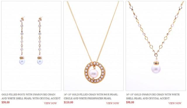 long earring pearl pendant