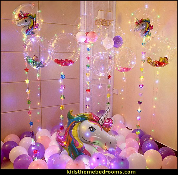 DIY Birthday Party Decorations Helium Bobo Balloons Unicorn Party Supplies