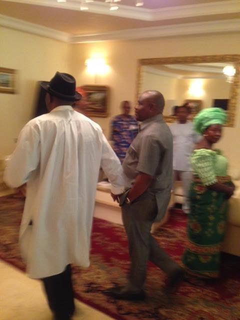 Wike visits Goodluck Jonathan in Otuoke, Bayelsa