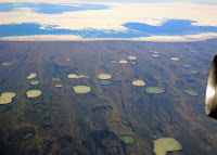 Melting permafrost is altering the landscape in northern Canada on a grand scale. (Credit: Wikimedia) Click to Enlarge.
