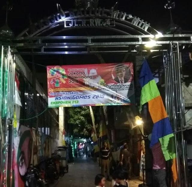 Masya Allah, Masyarakat Swadaya Pasang Spanduk dan Baliho Dukungan Prabowo-UAS