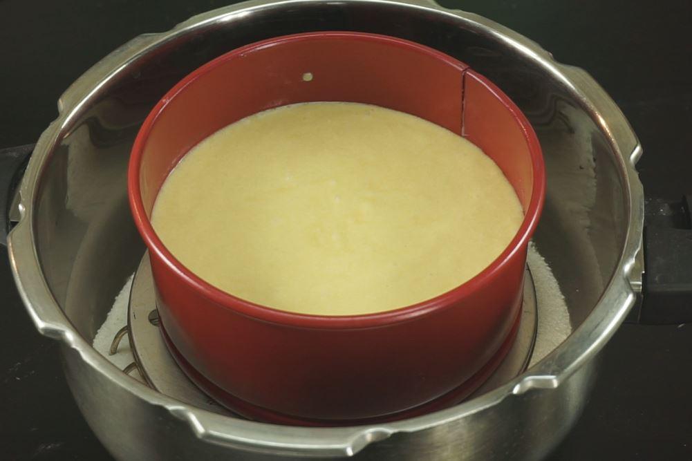 how to prepare sponge cake in oven