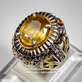 Cincin Batu Permata Yellow Saphire ZP 1102
