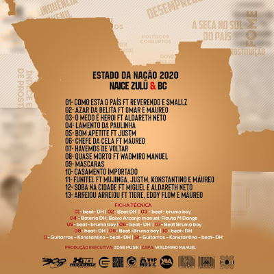 Naice Zulo & BC – Estado da Nação (Álbum) Download Mp3