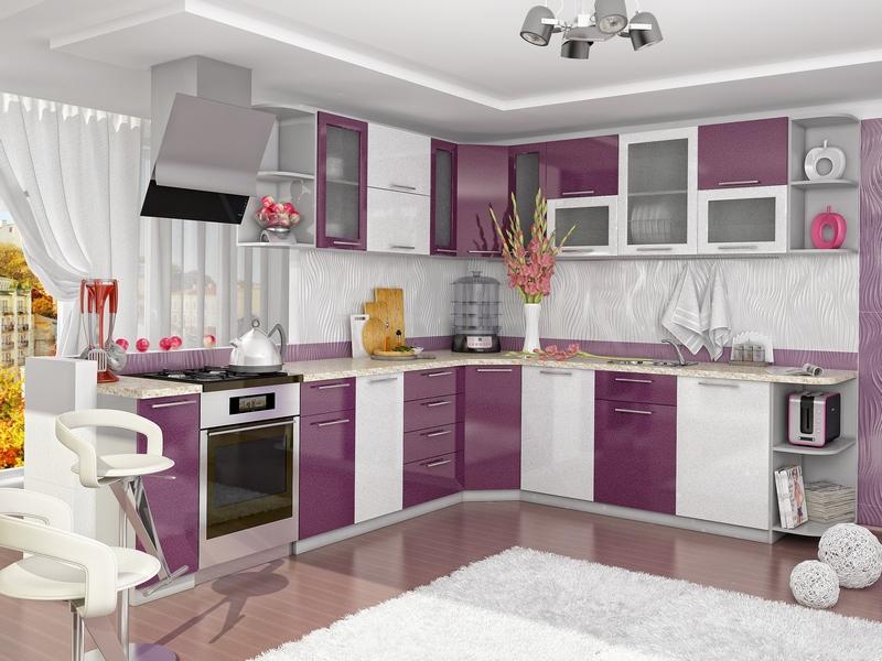 Small Purple Kitchen Gallery Pictures | Kitchen Design ...