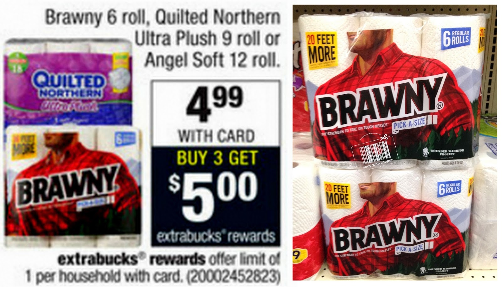 photo regarding Brawny Printable Coupons referred to as retail outlet with coupon: CVS :: Brawny Paper Towels, 6 Rolls