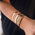 Golden Bracelets from Merci Paris