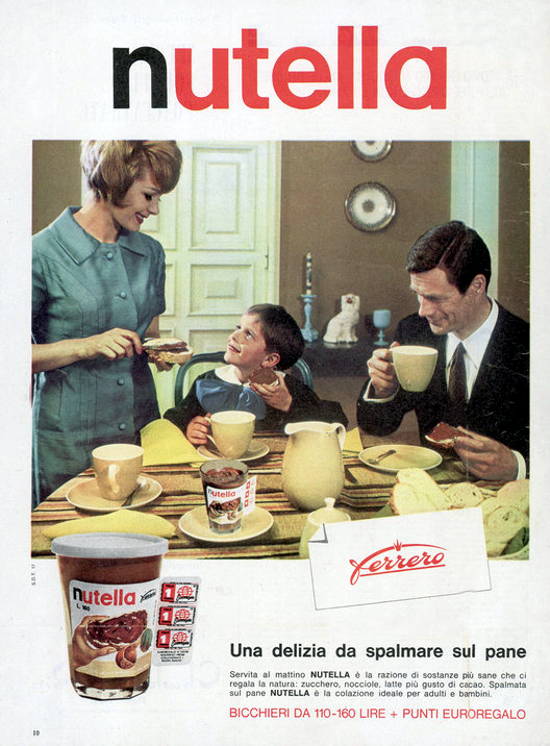 Nutella advertising 1964