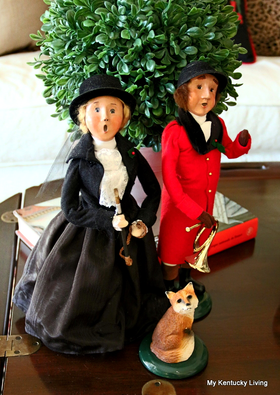Christmas decorating with Byers Carolers Equestrian Couple