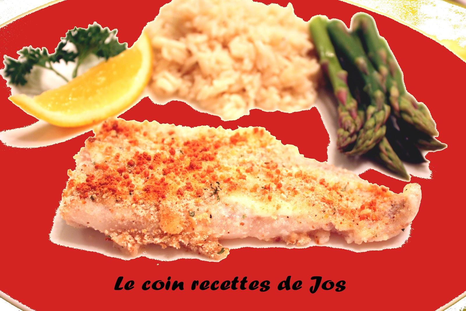 Le coin recettes de Jos: FILETS DE SOLE AU PARMESAN