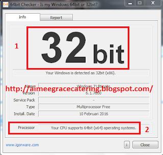 Cara Mengetahui Tipe Processor (CPU) 32-bit / 64-bit