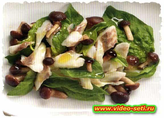 Branzino, piopparelli e spinaci