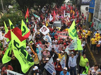 Centrais sindicais organizam manifestações contra a reforma trabalhista no dia 10