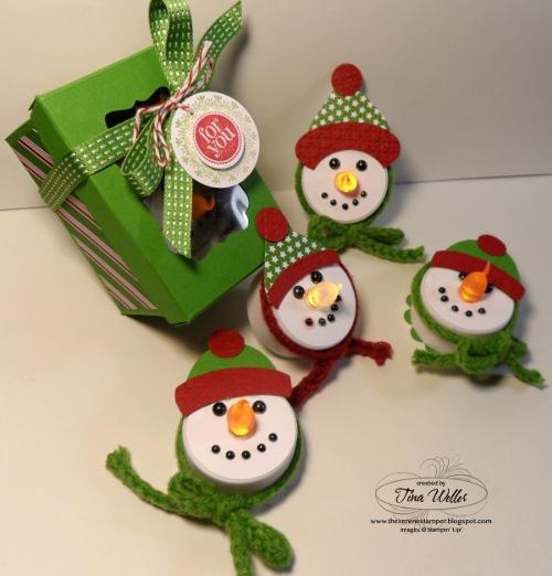 The Serene Stamper Snowman Tealight Ornaments