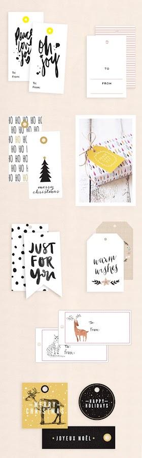 10 etiquetas para regalos imprimibles gratis