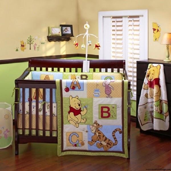 Idée déco chambre bébé mixte winnie l'ourson