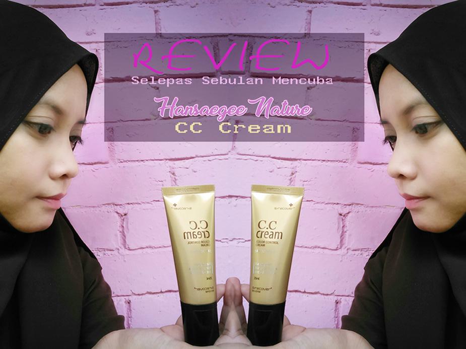 HANSAEGEE NATURE CC CREAM, CC Cream | Kosmetik yang Mempunyai Manfaat Skincare dan UV Protect CC Cream Is Better Than BB Cream? Sejauh Mana Kebenarannya. Hansaegee cc cream