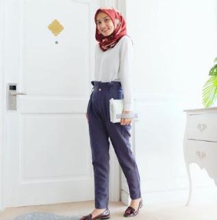 gaya hijab casual modern