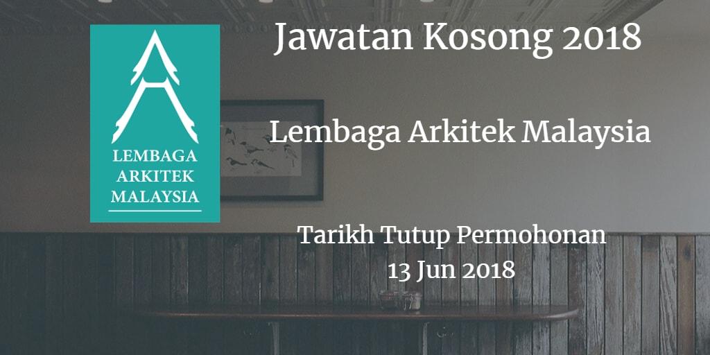 Jawatan Kosong Lembaga Arkitek Malaysia 13 Jun 2018