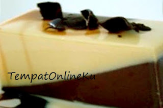 puding vanila karamel coklat