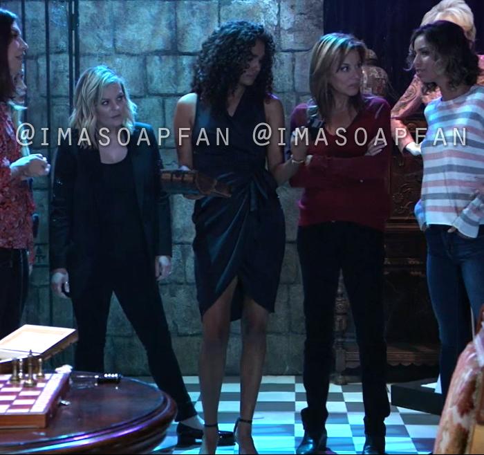 Jordan Ashford, Briana Nicole Henry, Midnight Blue Ruched Wrap Dress, General Hospital, GH