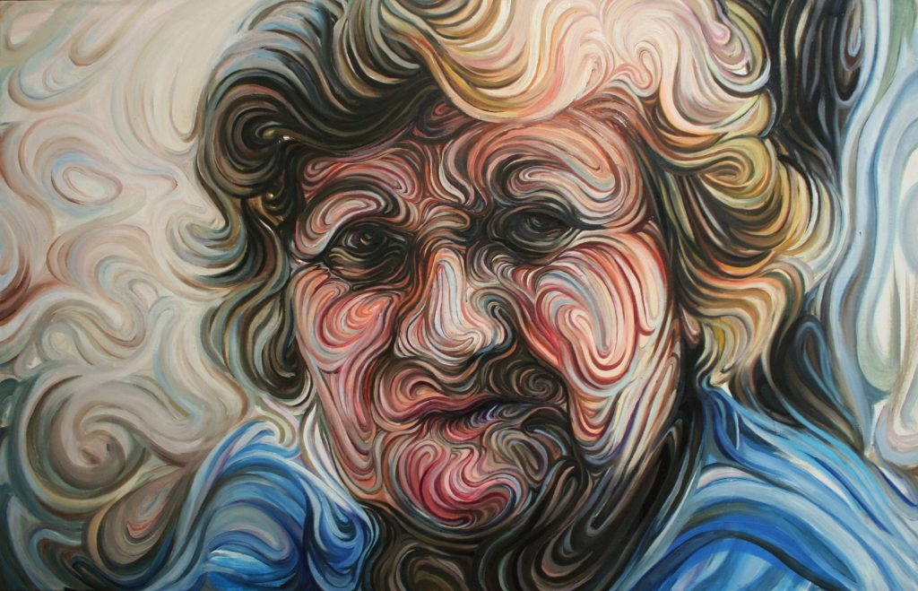 05-Aunt-Georgia-Nikos-Gyftakis-Swirls-of-Colors-and-Shapes-used-in-Portrait-Paintings-www-designstack-co