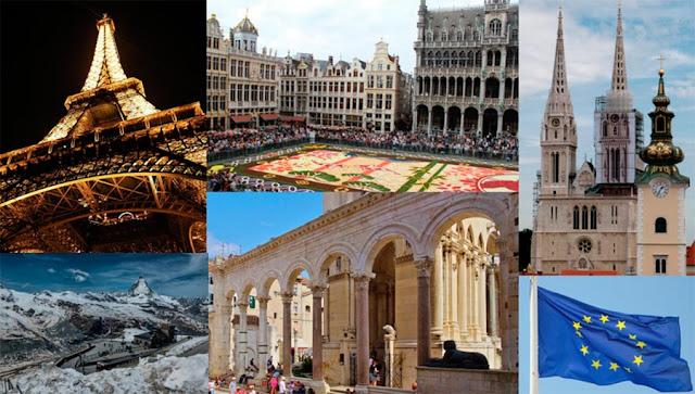 Atrações na Europa