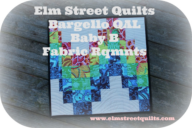 Bargello quilt QAL Fabric requirements