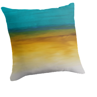 Abstract Original Art Paintings - Modern Expressive - Landscapes: Decorative Throw Pillows ...